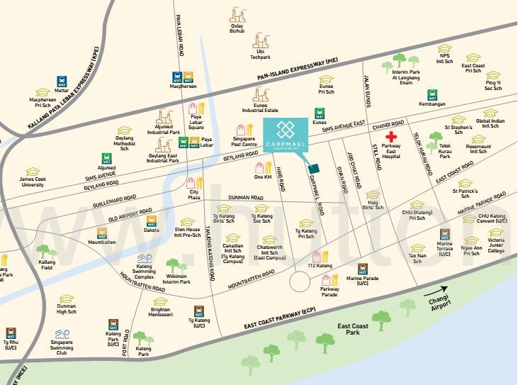 Carpmael 38 map