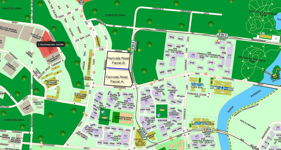 Fernvale-Road-Condo-Location