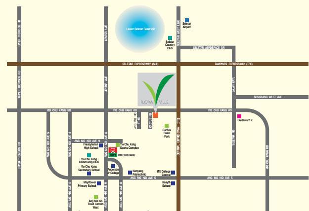 Flora Ville Map