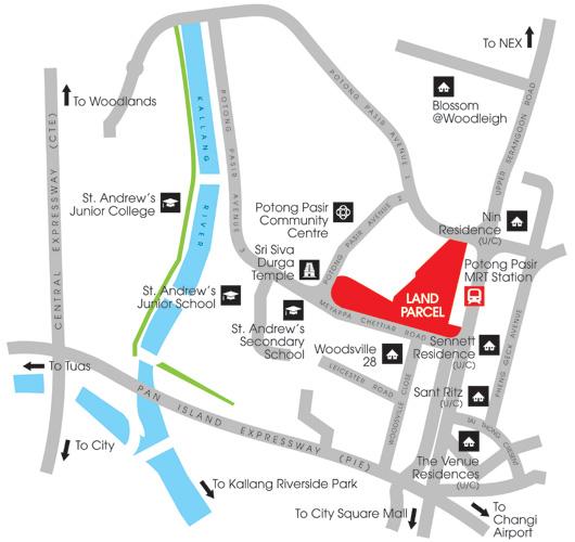 MCC Potong Pasir Map