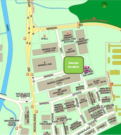 Mandai Foodlink Map