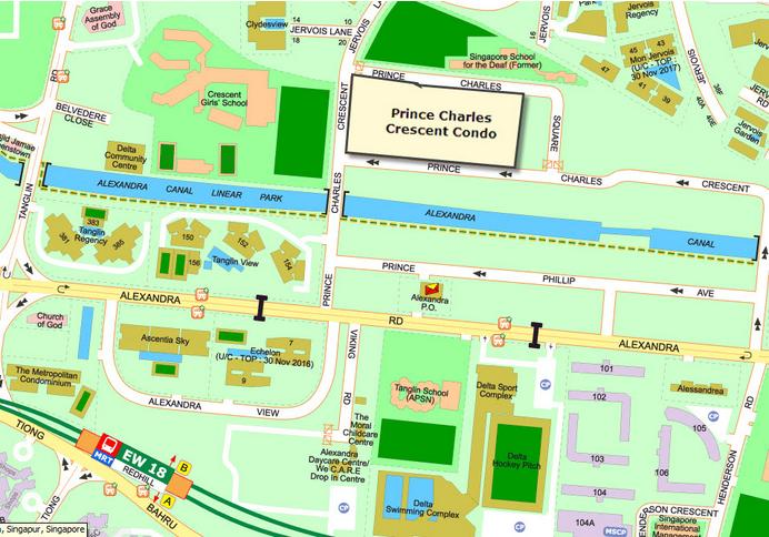 Prince Charles Cresent Condo map